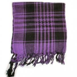 Arafatsjaal / Shemagh  / Palestijnse sjaal paars zwart