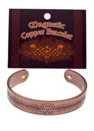 Armband koper brons magnetisch Pentagram