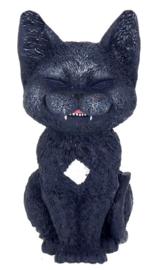 Count Kitty - zwarte vampieren kat beeld - 10 cm hoog