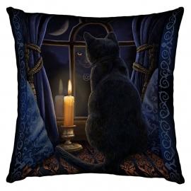 Gevulde kussen Midnight Vigil - dessin Lisa Parker - 42 x 42 cm