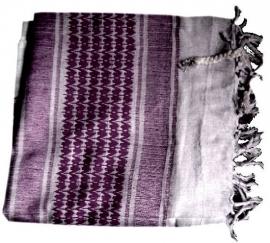 Arafatsjaal / Shemagh  / Palestijnse sjaal paars wit  - zware kwaliteit