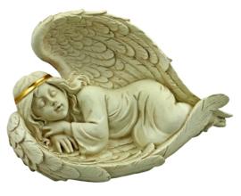 Heavenly Rest - slapende engel beeld - grafdecoratie - 15 x 15 x 25 cm