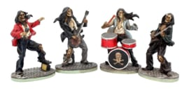 One Hell Of A Band skelet beeldjes van musici - 10 cm hoog