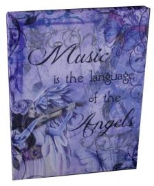 Music - wandbord van Jessica Galbreth - 25 x 19 cm