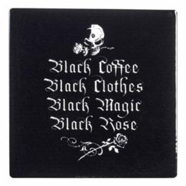 Alchemy of England keramieke onderzetter - Black Coffee - 9.3 x 9.3 cm