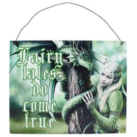 Metalen wandbord Anne Stokes - Fairy Tales - 19 x 24 cm