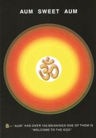 Briefkaart / Hindu wenskaart OHM