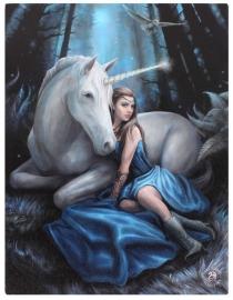 Blue Moon - wandbord van Anne Stokes - 25 x 19 cm