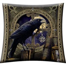 Gevulde kussen Talisman Raven - dessin Lisa Parker - 42 x 42 cm