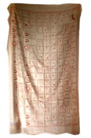 Sarong pareo sjaal tafelkleed multifunctioneel doek yoga posities perzik - 114  x 180 cm