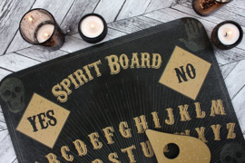 Ouija bord / Spirit bord - Speak to the Spirits - doodskop dessin - 31 X 37 CM