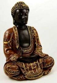 Mediterende Thaise Boeddha - 29 cm hoog