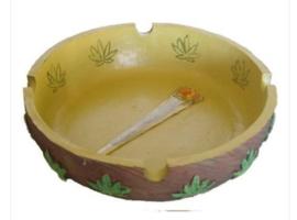 Asbak Legalize Cannabis 13 x 13 cm