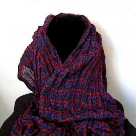 Rood/blauw geruite sjaal