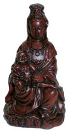 Rode Kinder Quan Yin 12 cm hoog