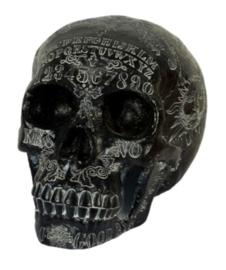 Ouija doodskop zwart polyresin 18 cm hoog 21 cm lang