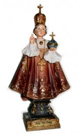Jezus Christus Kind van Praag beeld 22 cm hoog