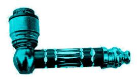 Aluminium pijp 7 cm lang turquoise