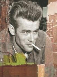 Blikken metalen wandbord James Dean - 15 x 21 cm