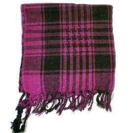 Arafatsjaal / Shemagh / Palestijnse sjaal donker roze zwart