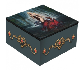 Spiegeldoos - Dragon Bathers - Dessin van Anne Stokes