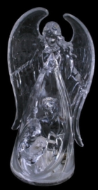 Engel beeld met led verlichting - 13 cm hoog