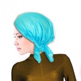 Bandana / hoofddoek / tricot muts turquoise