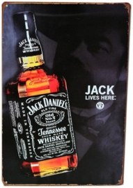 Blikken metalen wandbord Jack Daniel's 2 20 x 30 cm