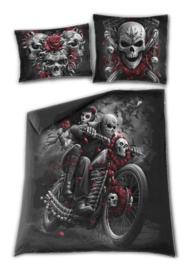 Spiral Direct dekbedovertrek - 2 persoons - Skulls n' Roses - 200 x 200 cm