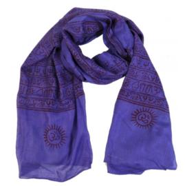 Benares-sjaal Indiaas Hindu Varanasi paars - 60 x 120 cm