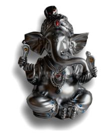 Ganesh zilver 16 cm hoog