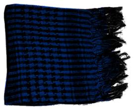 Arafatsjaal / Shemagh / Palestijnse sjaal donkerblauw zwart