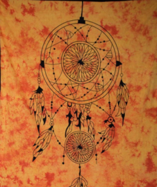 Bedsprei wandkleed grand foulard Droomvanger oranje 210 x 230 cm