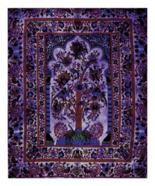 Bedsprei  wandkleed Levensboom Tree of Life paars 200 x 220 cm dessin 2