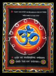 Indiase Hindu god wandkleed OHM 40 x 55 cm