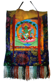 Thangka Groene Tara 42 x 57 cm
