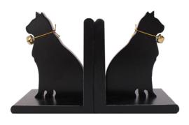 Boekensteunen zwarte katten