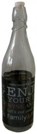 Hersluitbare wijnfles zwart