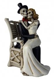 For Better, For Worse - huwelijkspaar met skeletten - 25 cm hoog