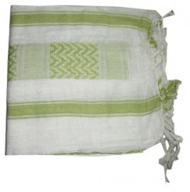 Arafatsjaal / Shemagh / Palestijnse sjaal limegroen wit - zware kwaliteit