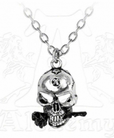 Alchemy Gothic ketting - The Alchemist - doodskop met roos
