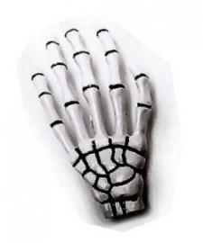 Harajuku skeletale hand haarschuifje wit