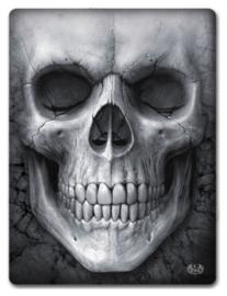 Spiral Direct - Solemn Skull - fleece deken met dessin van een grote doodskop - 150 x 200 cm
