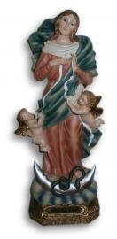 Maria beeld met cherubijn 22 cm hoog