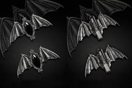 Restyle Carpe noctem vleermuizen haarschuifjes