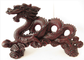 Feng Shui Chinese Draak - rood - 30 cm lang