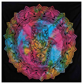 Bedsprei wandkleed tweepersoons Hamsa Gekleurd - 210 X 220 cm