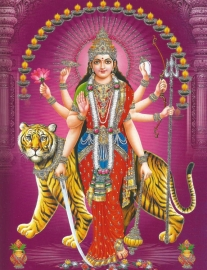 Hindu poster Durga 5 - 23 x 29 cm