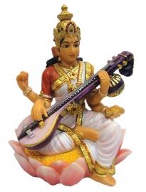 Saraswati beeld 15 cm hoog