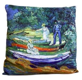 Kussenhoes - Rowing Boats - Van Gogh - 40 x 40 cm - 40 x 40 cm